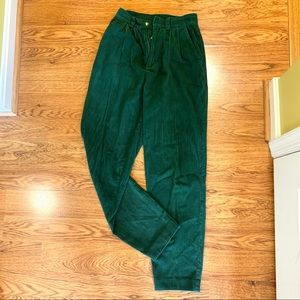 Vintage high waist corduroy trousers